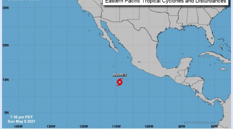 Inicia la temporada de Huracanes 2021 con la tormenta tropical «Andrés»