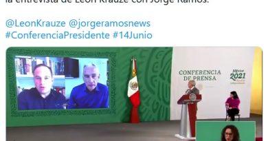 """""""Quería que le dijera que yo era un dictador"""", AMLO sobre la entrevista de León Krauze con Jorge Ramos."""